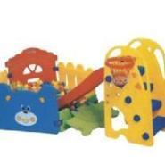 幼教用品组合滑梯幼儿床图片