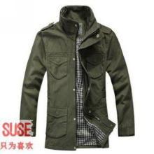 供应韩版军装中长款风衣立领多口袋外套 商城特价 淘宝热卖长款大衣