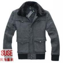 供应宿涩英伦新品男款加厚长袖棉衣 男士可拆下夹克外套