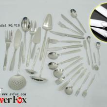 供应镀金镀银喷砂餐具产品刀叉不锈钢批发