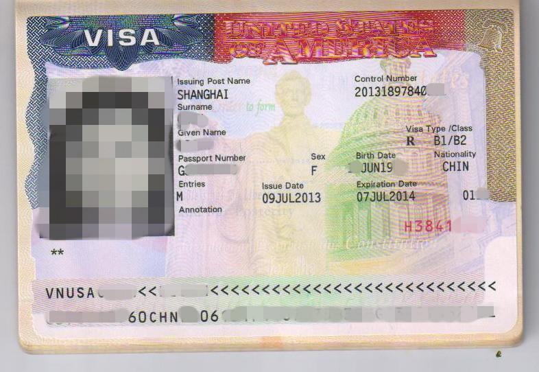 美国签证图片|美国签证样板图|美国签证-新加坡