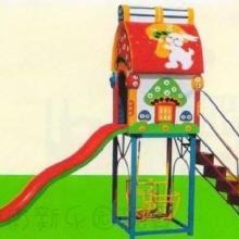 供应新乐园玩具兔子蘑菇玻璃钢滑梯批发