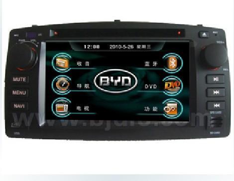 比亚迪f3专车专用车载dvd导航仪