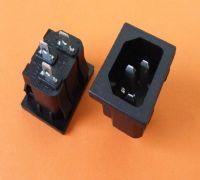 供应ST-A01-003K品字形电源插座/AC插座/IEC插座/C14插座/品字尾插座/品字形插座
