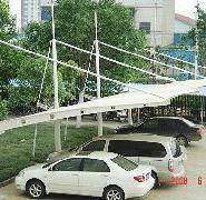 膜结构停车车棚 篷膜结构自行车棚图片