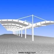 设计安装户外汽车膜结构遮阳棚雨篷图片