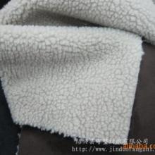 现货供应麂皮绒复合羊羔毛-皮毛一体-大衣外套面料生产厂批发