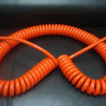 供应橙色电源弹簧线-PUR弹弓线批发