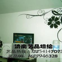 供应济南专业提供影视墙彩绘壁画 文化墙彩绘 理发店彩绘 玄关彩绘图片