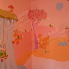 供应济南专业儿童房彩绘 牡丹墙体彩绘 幼儿园手绘墙 影视墙彩绘济图片
