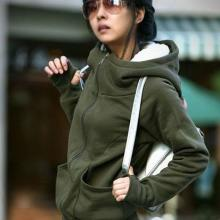 供应2012春秋新款韩版女装外套批发时尚拉链女式外套加厚纯棉外套批发