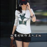 今年秋装韩版T恤批发女式长袖T恤