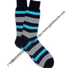 供应间色针织条纹男袜