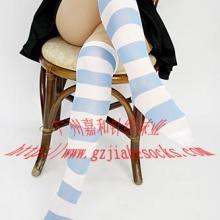 供应长筒大腿袜间条长袜针织袜图片