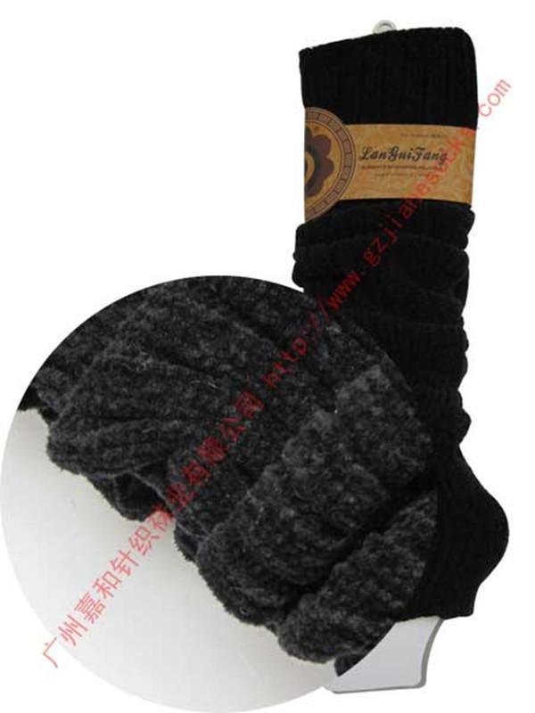 袜套/供应条纹袜套毛线袜套过膝袜套立体袜套图片