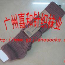 供应针织毛线袜套针织毛线脚套羊毛袜套批发