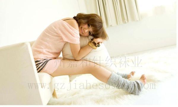 时尚 袜套/供应针织地板袜套过膝脚套时尚毛线袜套图片