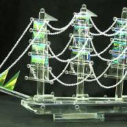 水晶船水晶工艺品水晶船图片