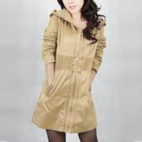 2011带帽气质女式长款大衣风衣