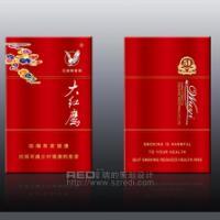 新古典主义大红鹰烟包设计