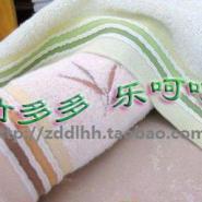 100竹纤维绣花女士面巾毛巾图片