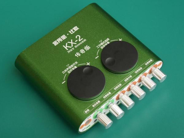 供应xox客所思kx-2传奇版专业电脑声卡网络k歌yyk歌外置声卡图片