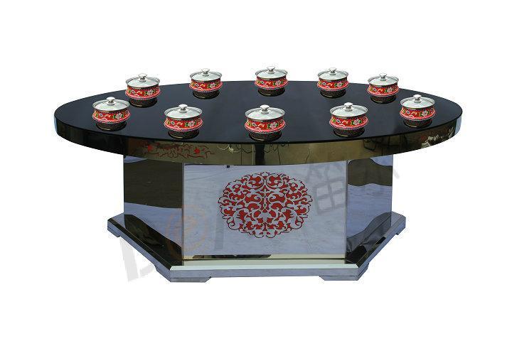 供应威海商用电磁炉火锅桌
