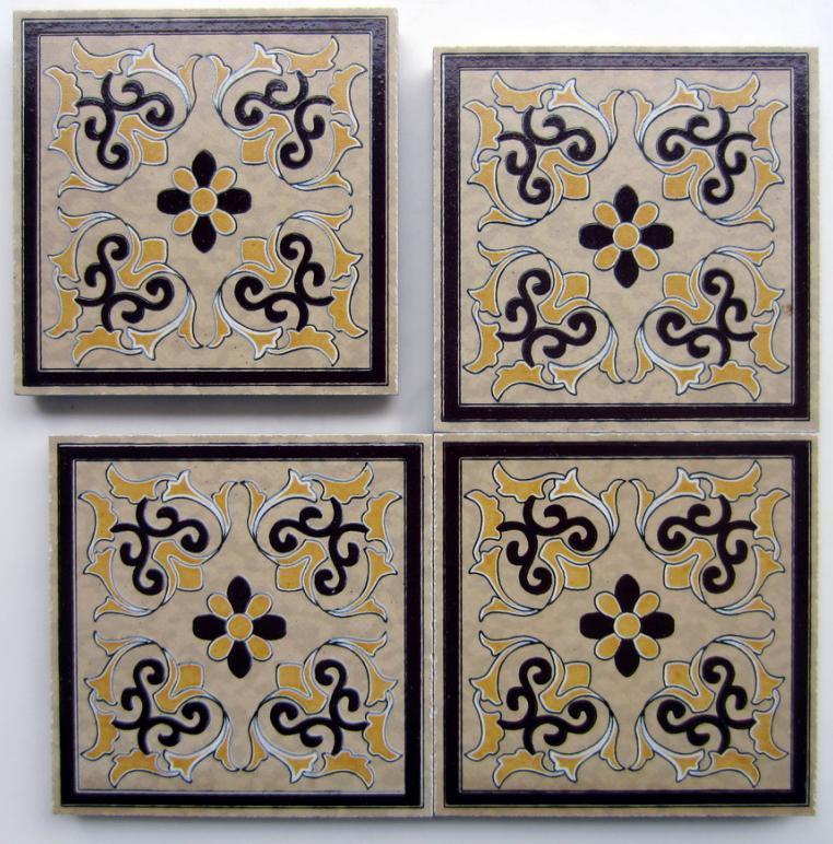 供应陶瓷小花砖角花星花西班牙风格砖青花瓷皮纹砖波打线花片瓷砖腰线