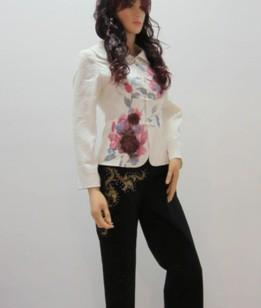 手绘丝带绣花盘扣中式上衣2011图片