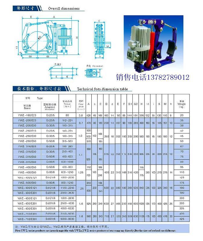 液压制动器图片 液压制动器样板图 液压制动器 焦作制动...
