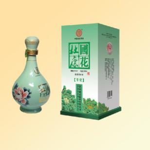 青瓷国花杜康酒图片