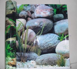 背景/水族箱背景纸龙鞭鹅卵石50厘米加厚双面 水族箱背景纸龙鞭