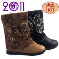 新款女式平跟靴低筒单靴雪地靴