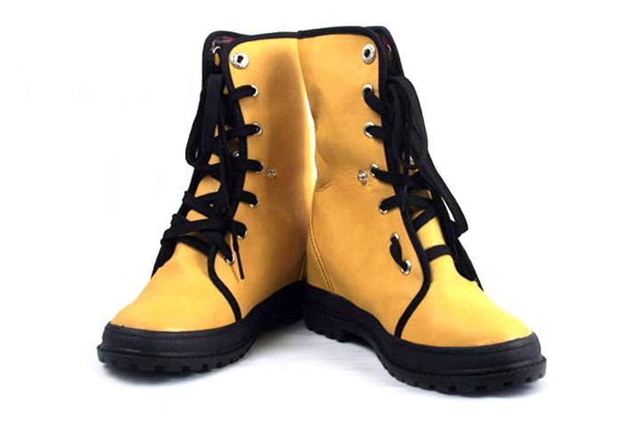 马丁/供应韩版女式中筒靴马丁靴户外鞋女单靴平跟防水台设计简单时尚...