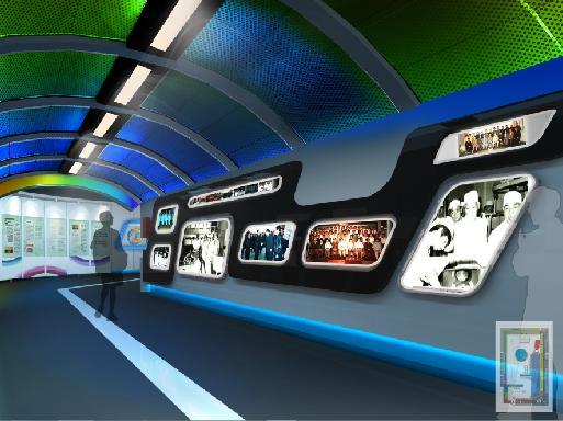 应甘肃展厅部队装修1,甘肃靳埭强海报设计奖展厅部队设计制作,部图片