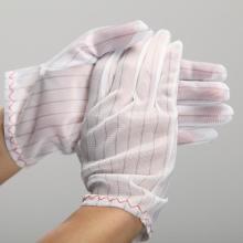 白色防静电手套/防静电手套/防静电工作手套/无尘净化手套
