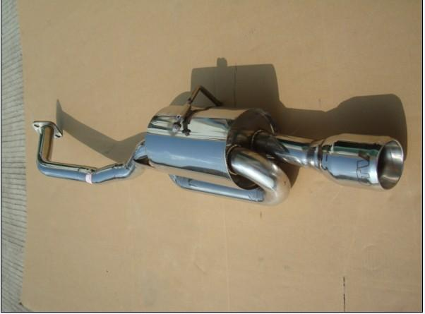 丰田改装排气管s鼓单尾汽车消声器 gtv 尾喉 卡罗拉后尾段高清图片