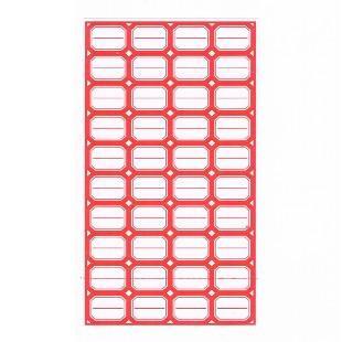 新泰不干胶 40-1 红色不干胶标签纸