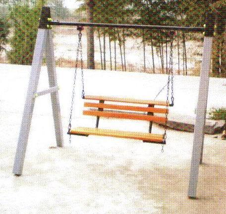 公园木座椅手绘图