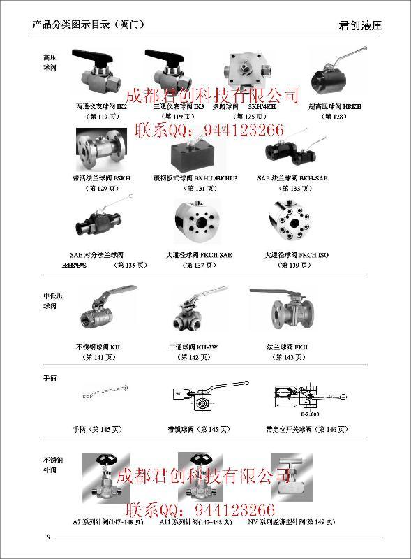 重庆液压产品分类图示目录-接头销售