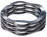 302不锈钢波形弹簧扣环