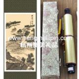 杭州哪里可以定做丝绸画18758896886杭州哪里可以定制字画礼品