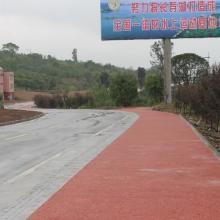 供应四川彩色生态环保透水地坪工艺图片