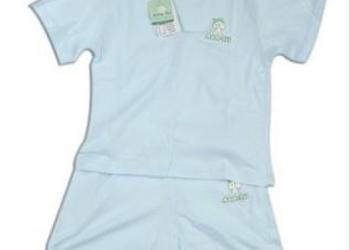 纯棉宝宝夏装上衣短袖睡衣内衣套装图片