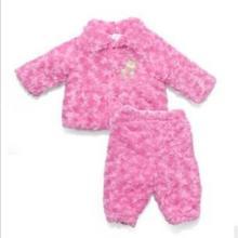 供应婴儿宝宝全棉男女加厚保暖棉衣套装图片