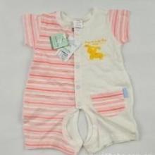 纯棉夏季宝宝婴幼儿短袖开档连体衣短爬哈衣
