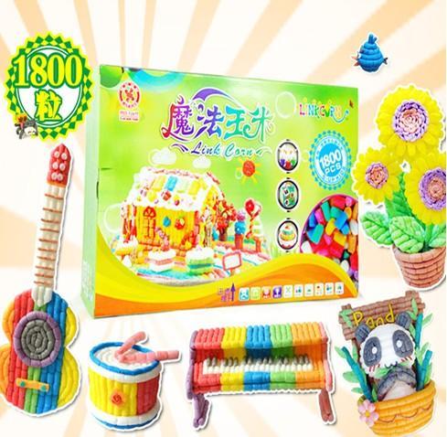 四喜人魔法玉米连连看DIY智育玩具