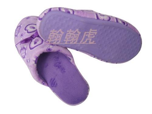 大爱心蝴蝶结室内拖鞋图片