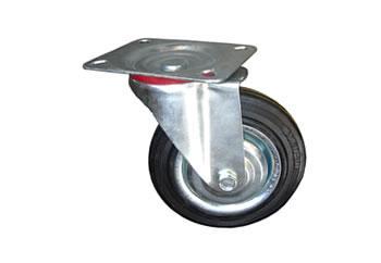 精益管3寸防静电膨胀式插杆脚轮图片