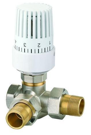 供应散热器恒温控制阀 三通温控阀图片